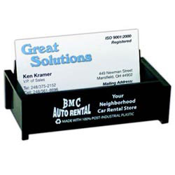 Custom imprinted Recycled Business Card Holder