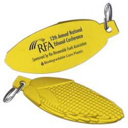 Custom imprinted Biodegradable Corn Resin Corncob Shape Key Tag