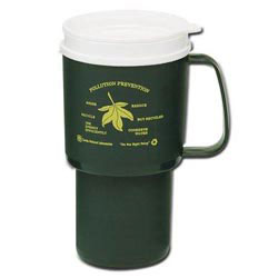 Custom imprinted Recycled 12 Oz. Mug with Drink Thru Lid