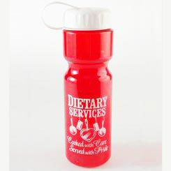 Custom imprinted 28 Oz. Transparent Sports Bottle With Tethered Lid