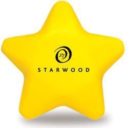 Custom imprinted Star Shaped Stress Reliever
