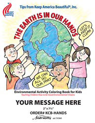Custom imprinted Coloring Book - The Earth is in Our Hands