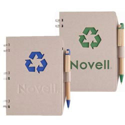 Custom imprinted Recycled Statement Notebook Combo