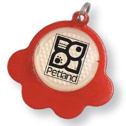 Custom imprinted Paw Reflector ID Tag