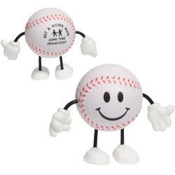Custom imprinted Baseball Player Stress Reliever