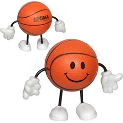 Custom imprinted Basketball Player Stress Reliever