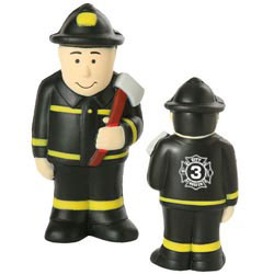 Custom imprinted Fireman Stress Reliever