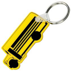 Custom imprinted School Bus Key Fob