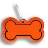 Custom imprinted Dog Bone Collar Reflector