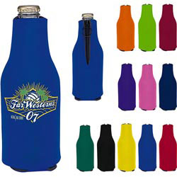 Custom imprinted Zip-Up Bottle Koozie(R) Kooler