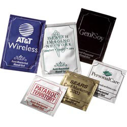 Custom imprinted Pacific Anti-Bacterial Gel Packets