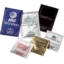 Custom imprinted Pacific Anti-Bacterial Gel Large Packets