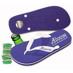 Custom imprinted Key Largo Bottle Opener Flip Flop
