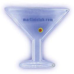 Custom imprinted Martini Glass Lighted Necklace