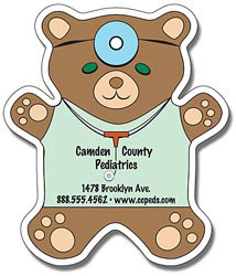 Custom imprinted Teddy Bear Magnet (4 x 4-5/8)