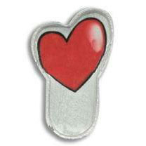 Custom imprinted Heart Mini-Clipster
