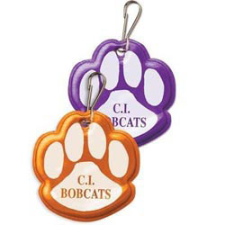 Custom imprinted Paw Print Zipper Pull