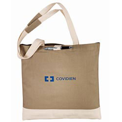Custom imprinted Classic Cotton 6 Oz. Convention Tote