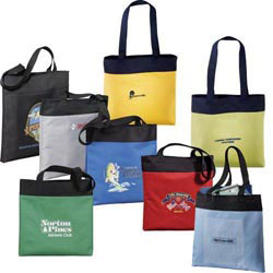 Custom imprinted Excel Sport Meeting Tote