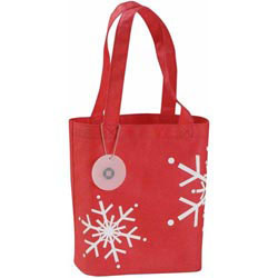 Custom imprinted Frost Mini Holiday Tote