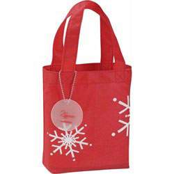 Custom imprinted Frost Holiday Tote