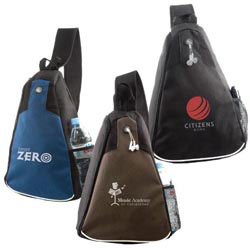 Custom imprinted 600D Polyester Sport Sling Bag