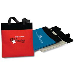 Custom imprinted 600D Polyester Shopping Tote