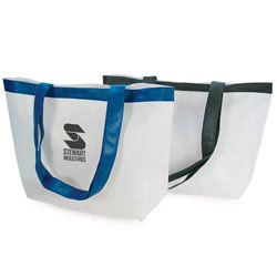 Custom imprinted Duralite Shopping Tote