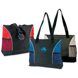 Custom imprinted 600D Polyester Beach Tote