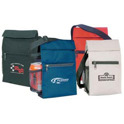 Custom imprinted 600D Polyester Lunch Cooler