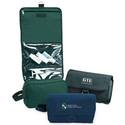 Custom imprinted 600D Polyester Toiletry Bag