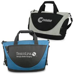 Custom imprinted 600D Polyester Travel Tote