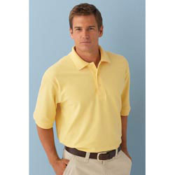 Custom imprinted Mens Essential Ringspun Pique Polo Shirt