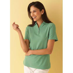 Custom imprinted Ladies Essential Ringspun Pique Polo Shirts