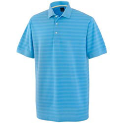 Custom imprinted Men's Cool Swing Pima Tech Tonal Stripe Pique Polo