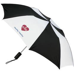 Custom imprinted Cooper Compact Automatic-Open Umbrella