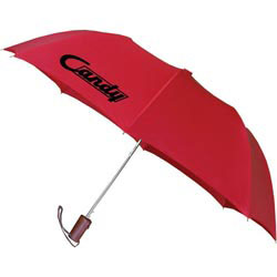 Custom imprinted Wooden Handle Auto Umbrella