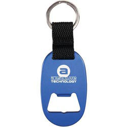 Custom imprinted Omicron Key Ring With Opener