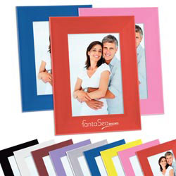 Custom imprinted 4'' x 6'' Color Brite Plastic Picture Frame