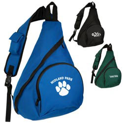 Custom imprinted Nylon Sling Bag