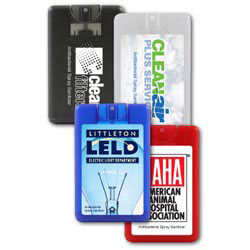 Custom imprinted Credit Card Antibacterial Hand Sanitizer Spray