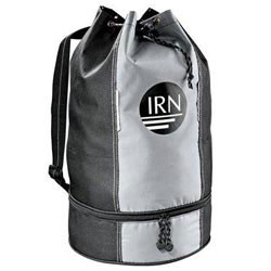 Custom imprinted Cruiser Drop-Bottom Drawstring Duffel