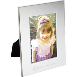 Custom imprinted Radiance Silver Plated Photo Frame