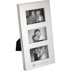 Custom imprinted Radiance Silver Plated Family Photo Frame