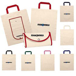 Custom imprinted Fold Up Canvas Tote