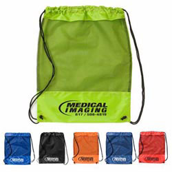 Custom imprinted Mesh Cinch Pack