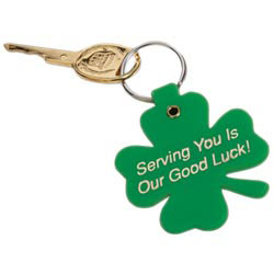 Custom imprinted Lucky Clover Key Tag