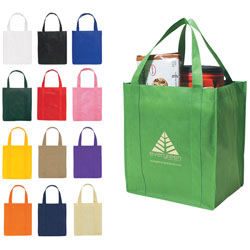 Custom imprinted Non-Woven Grocery Shopper Tote