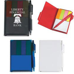 Custom imprinted Memo Notebook With Sticky Notes & Pen