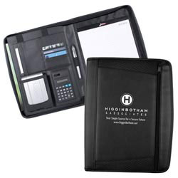 Custom imprinted Executive Curve Zipfolio